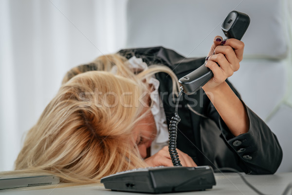 The Call That Ruined Her Day... Stock photo © MilanMarkovic78