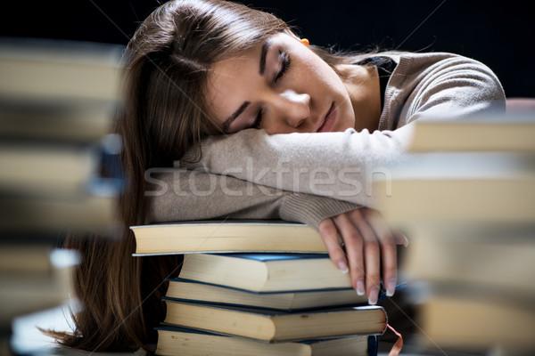 Sleeping student Stock photo © MilanMarkovic78