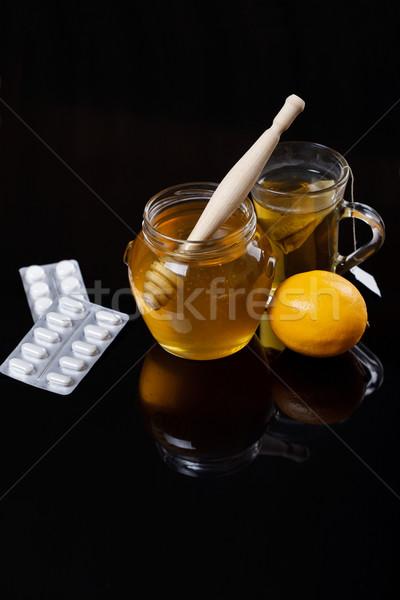 Honey, Tea And Medicine Stock photo © MilanMarkovic78