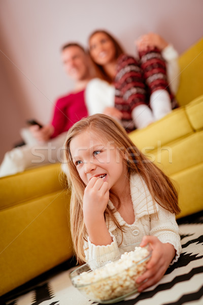 Family Watching A Movie Stock photo © MilanMarkovic78