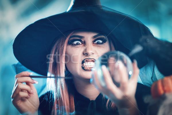 Bruja viendo futuro magia pelota retrato Foto stock © MilanMarkovic78