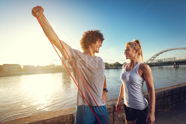 постоянно лучше вместе молодые фитнес пару Сток-фото © MilanMarkovic78