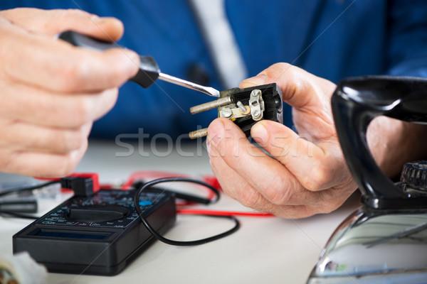 Repairing Old Power Plug Stock photo © MilanMarkovic78