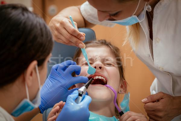 Little Girl At The Dentist Stock photo © MilanMarkovic78