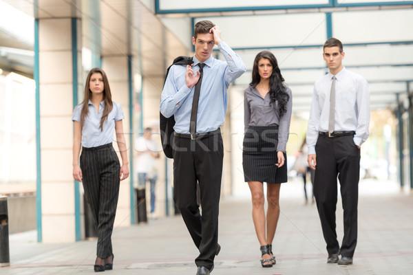 Réussi équipe commerciale groupuscule jeunes gens d'affaires Photo stock © MilanMarkovic78