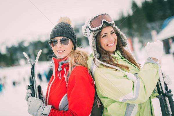 зима отпуск красивой друзей Сток-фото © MilanMarkovic78