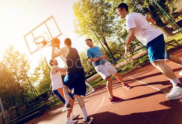 Street Basketball Training Stock photo © MilanMarkovic78