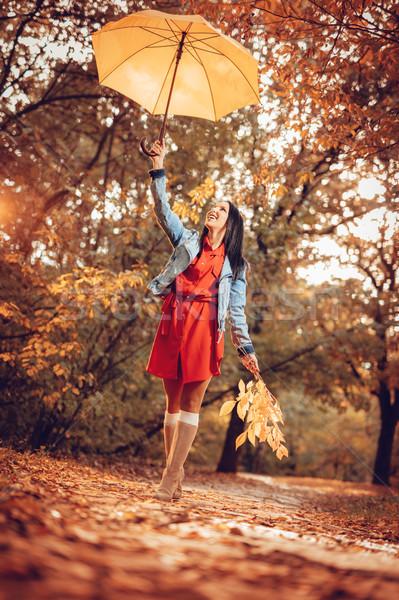 Sunny Autumn Walk Stock photo © MilanMarkovic78