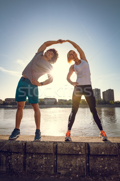 It Is Always Better To Stretch Together  Stock photo © MilanMarkovic78
