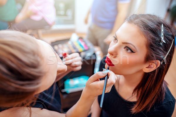 Perfect Red Lips Stock photo © MilanMarkovic78