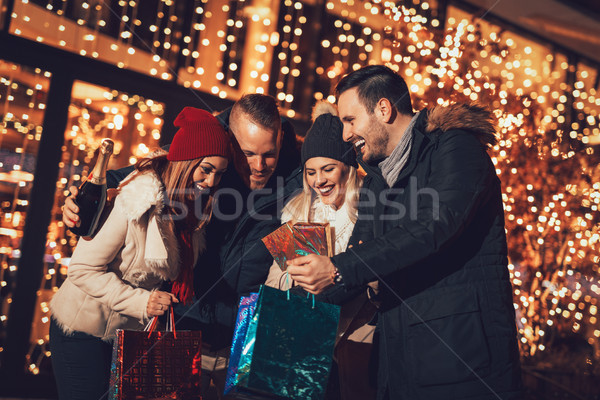 Stock photo: Group Of Friends Enjoying Shopping