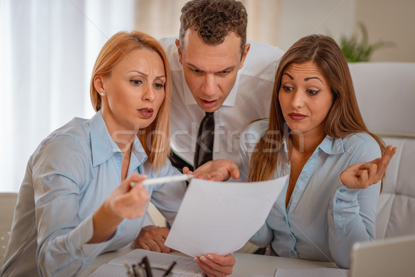 Boss Criticizes Employees Stock photo © MilanMarkovic78