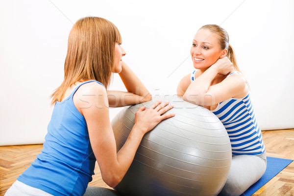 Consultation with a Personal Trainer Stock photo © MilanMarkovic78