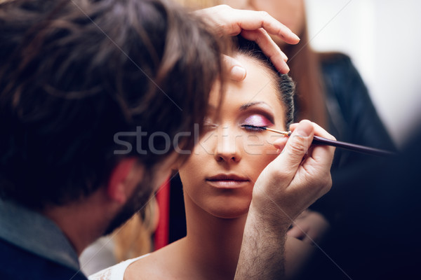 Maquillage homme artiste Photo stock © MilanMarkovic78