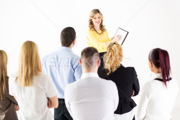 Stock photo: Successful Presentation in front of coworkers