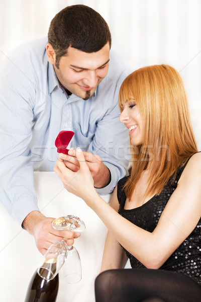 Proposing marriage Stock photo © MilanMarkovic78