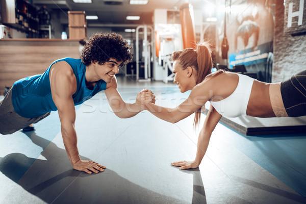 Couple At Workout Stock photo © MilanMarkovic78