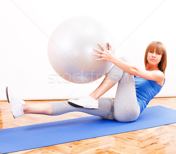 Pilates formation fitness fille exercice balle Photo stock © MilanMarkovic78