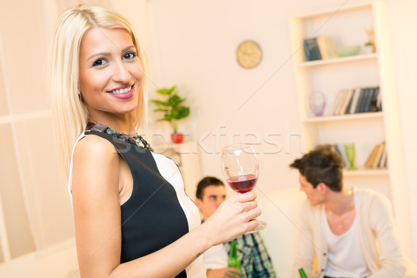 Attractive Girl At House Party Stock photo © MilanMarkovic78