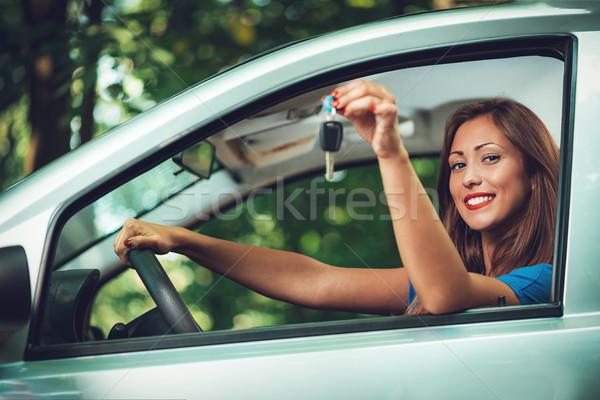 Giovani bella auto driver Foto d'archivio © MilanMarkovic78