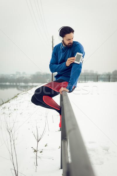 A Break After Jogging Stock photo © MilanMarkovic78