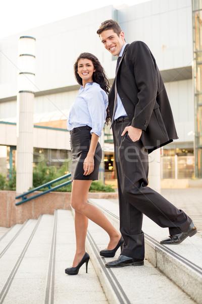 Nice sur bureau jeunes affaires collègue Photo stock © MilanMarkovic78