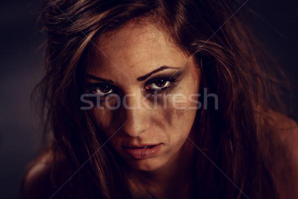 Víctima retrato jóvenes mujer miedo Foto stock © MilanMarkovic78