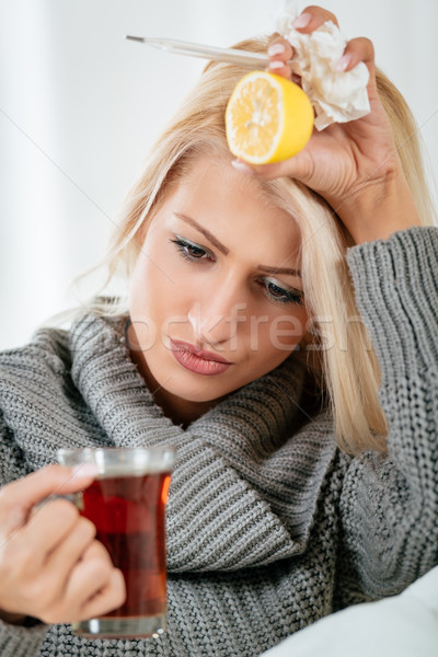 Annoying Flu And Headache Stock photo © MilanMarkovic78