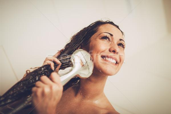Girl Washing Hair Stock photo © MilanMarkovic78
