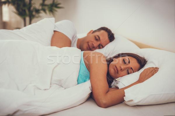 Sleeping Couple Stock photo © MilanMarkovic78