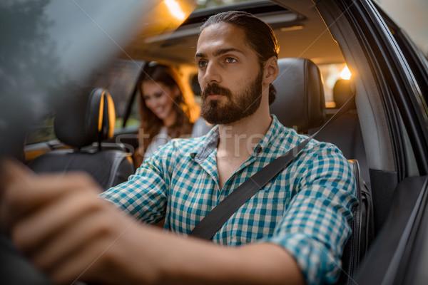 Rijden comfort knap jonge zakenman auto Stockfoto © MilanMarkovic78