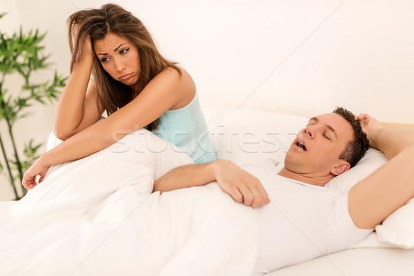 Irritating Snoring Stock photo © MilanMarkovic78