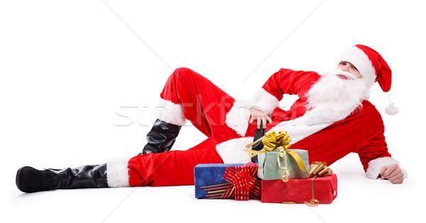 Zdjęcia stock: Święty · mikołaj · prezenty · czeka · radości