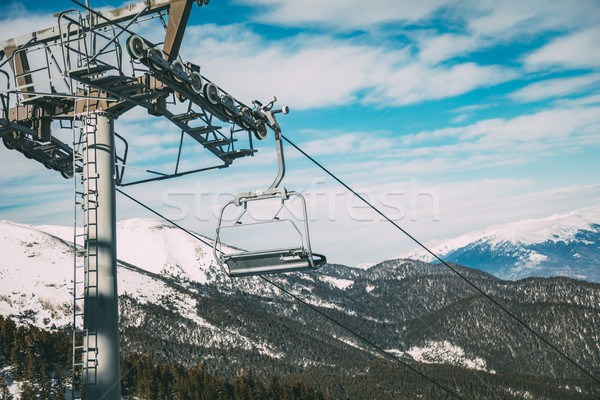 Ski Lift on Winter Day Stock photo © MilanMarkovic78