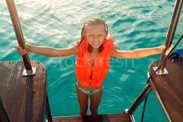 Little Girl On A Cruise Stock photo © MilanMarkovic78