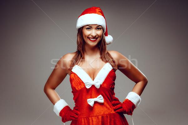 Female Santa Claus Stock photo © MilanMarkovic78