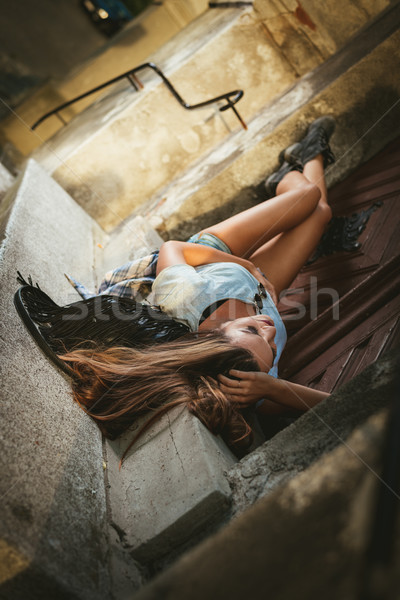Loneliness Young Woman Stock photo © MilanMarkovic78