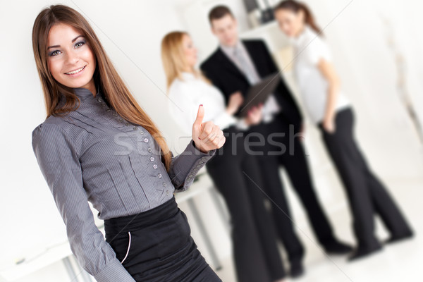 Zdjęcia stock: Kobieta · interesu · szczęśliwy · biuro · patrząc