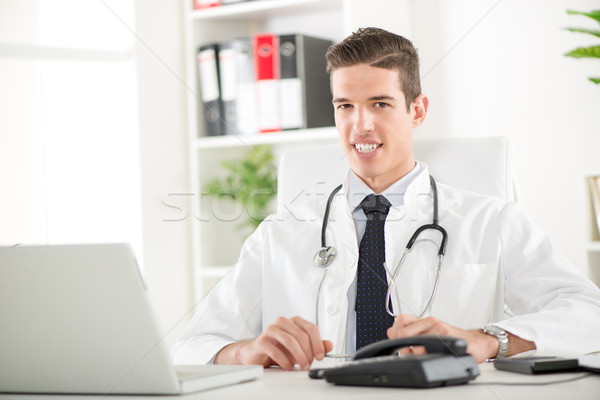 Portrait Of A Handsome Doctor Stock photo © MilanMarkovic78