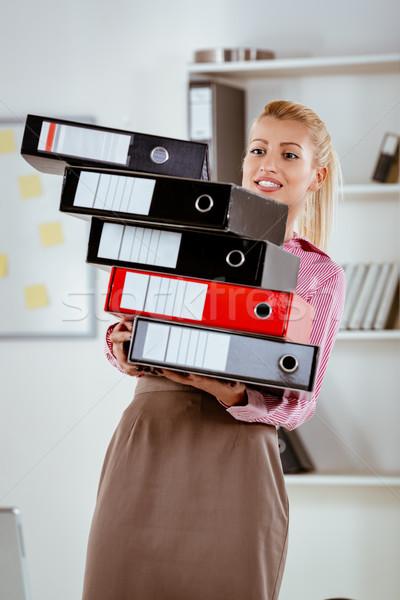 Hardworking Business Secretary Stock photo © MilanMarkovic78