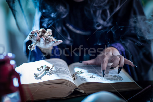 Wicth's Hand On Magic Book Stock photo © MilanMarkovic78