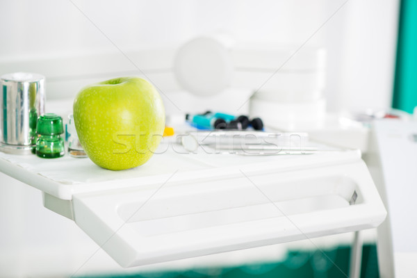 Apple And Dental Equipment Stock photo © MilanMarkovic78