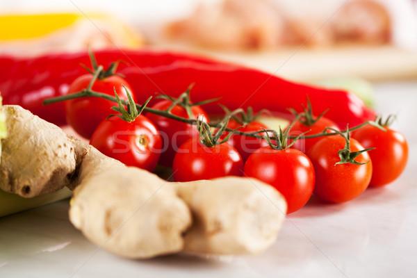 красный имбирь кухне совета Сток-фото © MilanMarkovic78