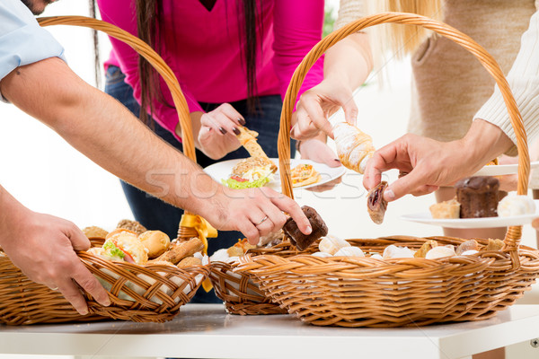 Catering In Wicker Baskets Stock photo © MilanMarkovic78