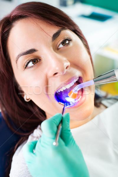 Dental Treatment With UV Lamp Stock photo © MilanMarkovic78