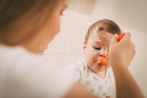 Stock photo: Hungry Baby Boy