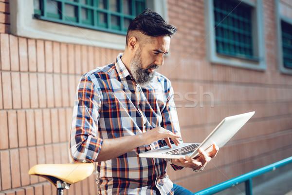 Handsome Man Working On A Break Stock photo © MilanMarkovic78