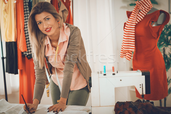 Stock photo: Fashion Designer With Sewing Pattern