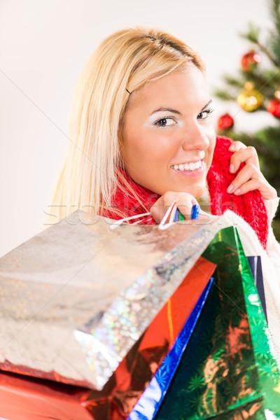 クリスマス 少女 肖像 幸せ ギフト 現在 ストックフォト © MilanMarkovic78