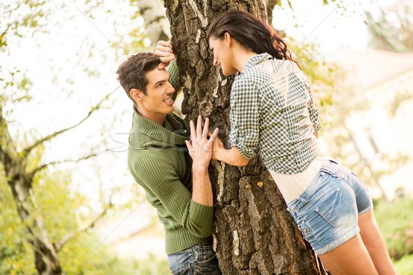 Romance In The Park Stock photo © MilanMarkovic78